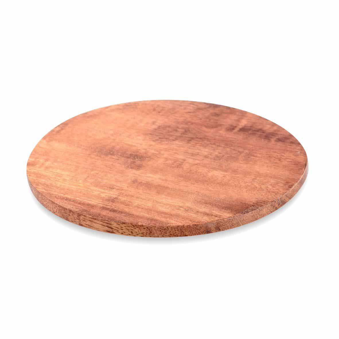 Kerzenteller Holz 140 mm, dunkel