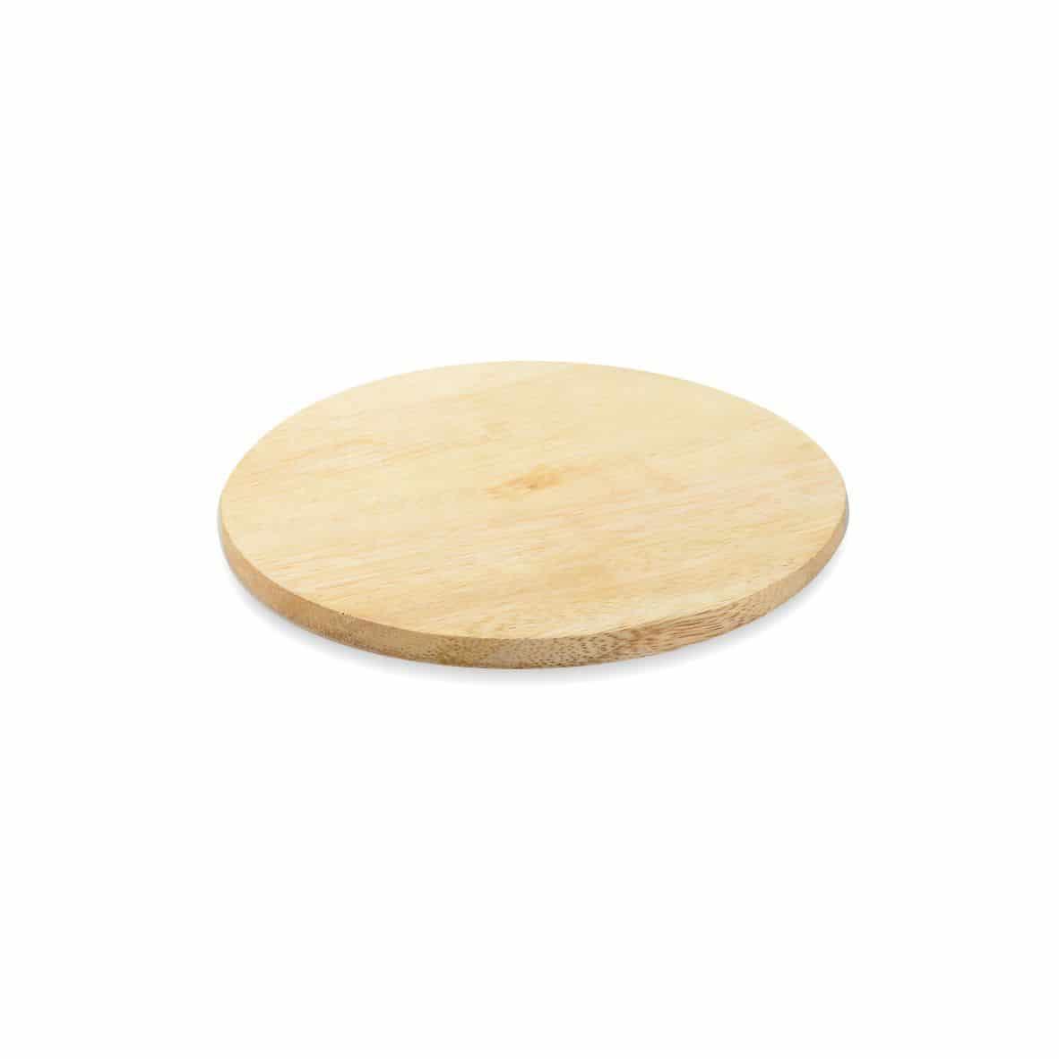 Kerzenteller Holz 100 mm, hell
