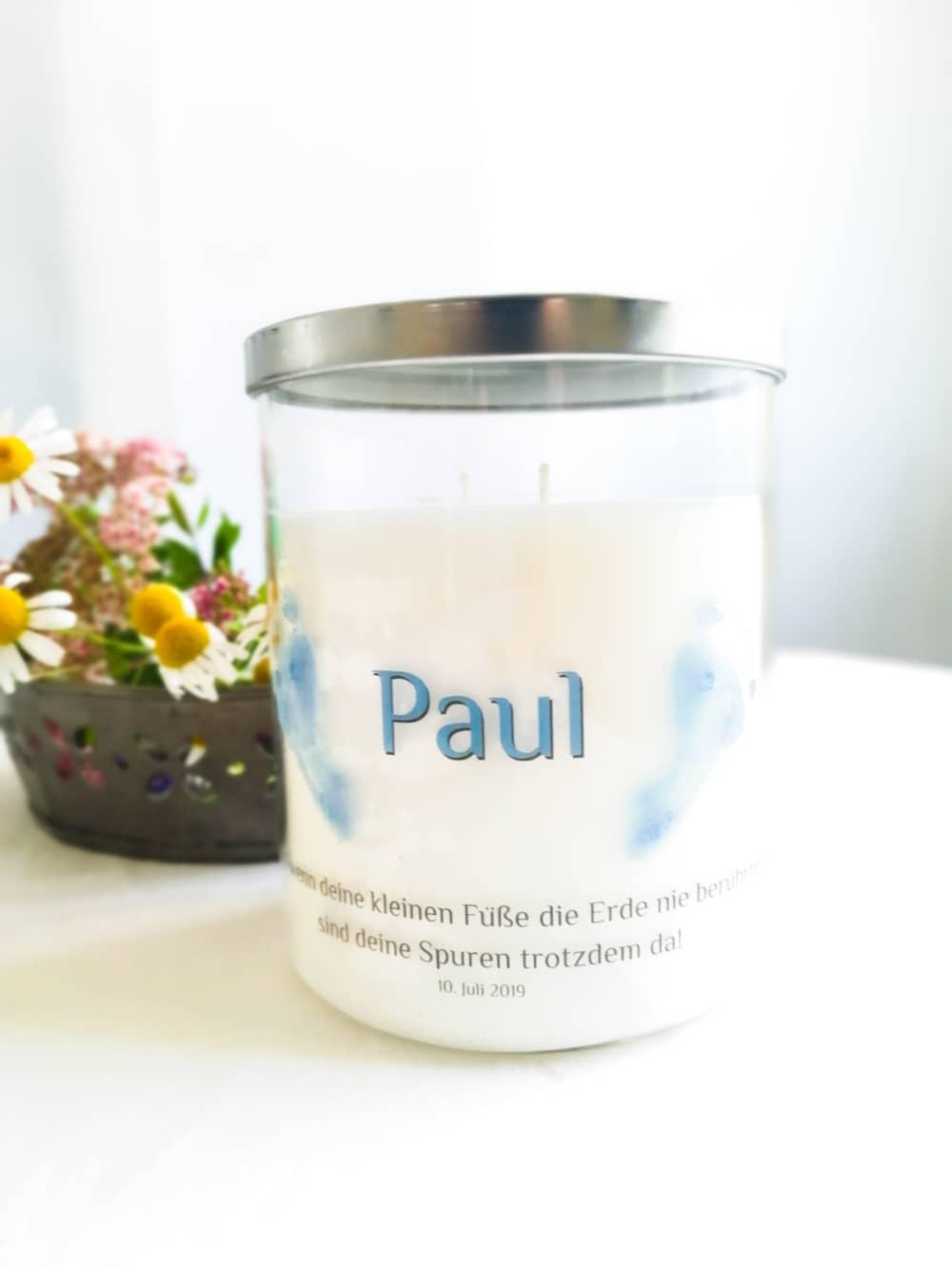 Gedenkkerze für Paul