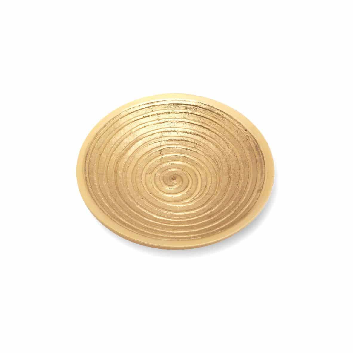 Rillenteller 100 mm, gold