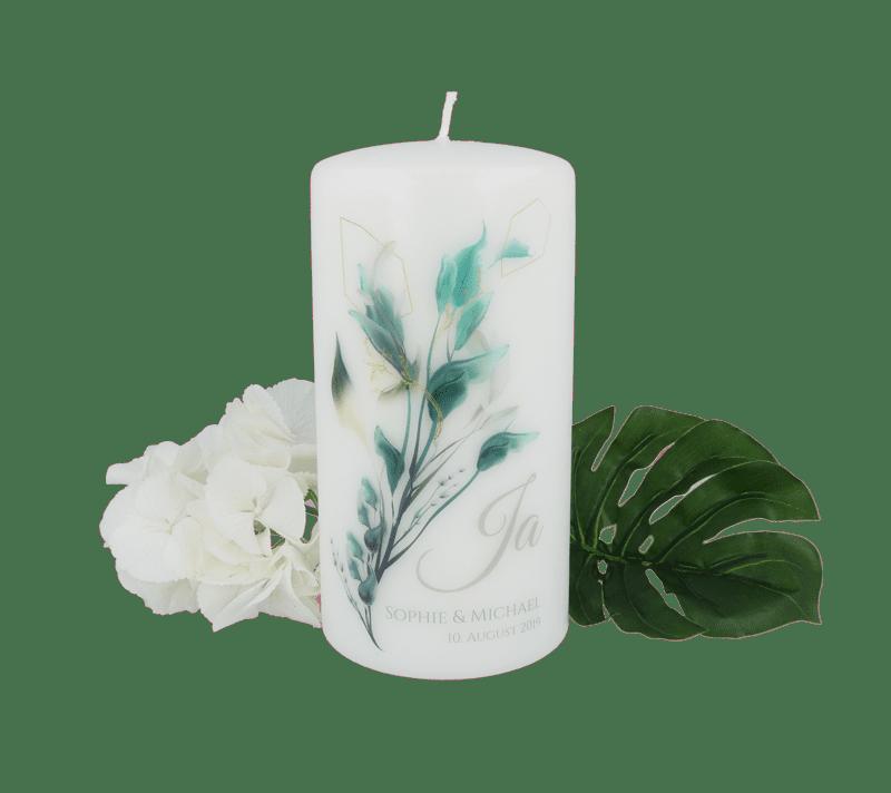 Kerze schlicht und elegant