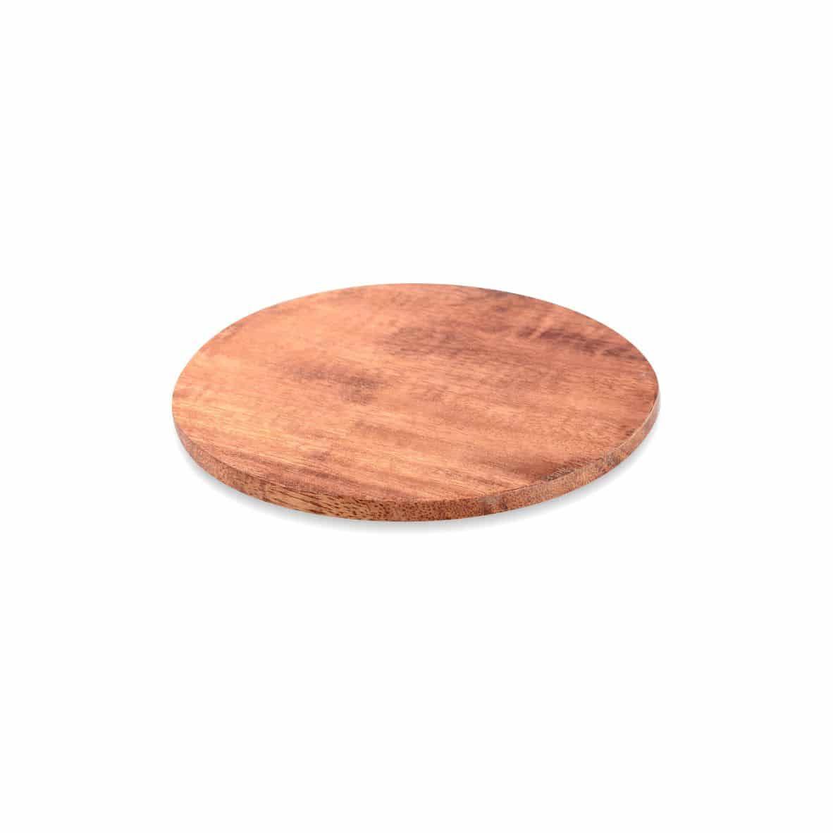 Kerzenteller Holz 100 mm, dunkel