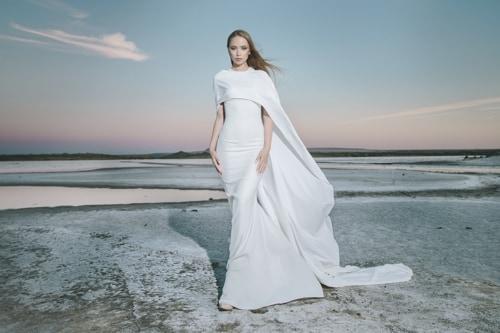 Braut schlicht und elegant