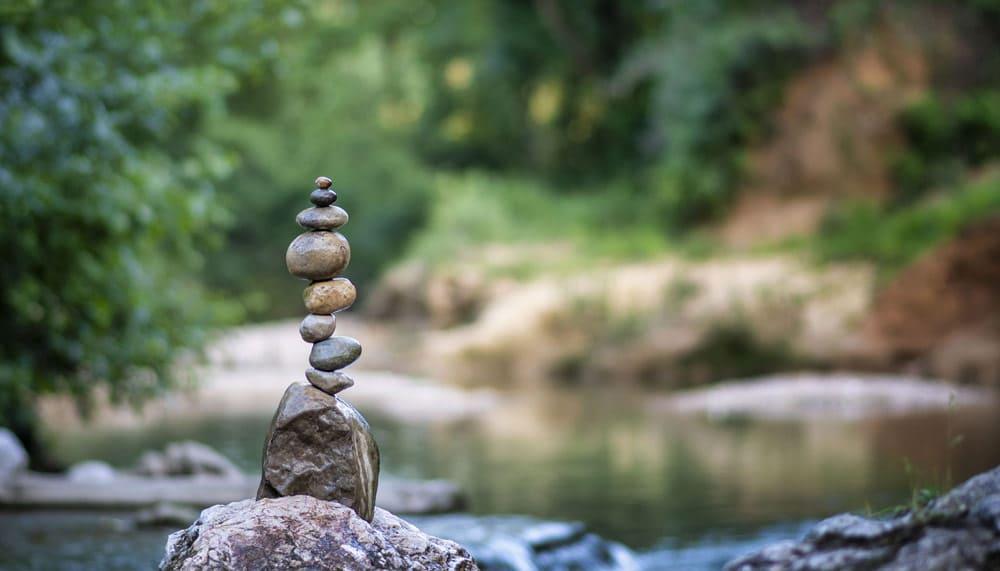 Meditation personalisierte Kerze